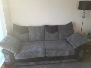 Grey and black sofa in Swansea