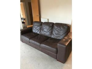 LEATHER SOFA in Norwich