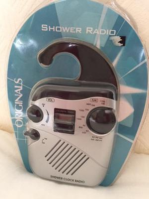 SHOWER Clock Radio, NEW in Box.