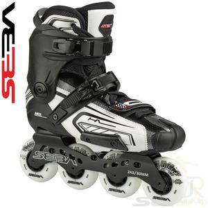 Seba High Lite White Black Freeskate Inline Skates /