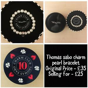 Thomas Sabo bracelet and charms sold separately or together.