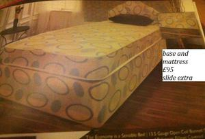 brand new single economy mattress and divan base