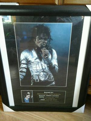 Michael Jackson Signed Print Framed