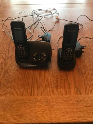 Panasonic Twin cordless telephones with answering machine.