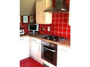Stainless steel gas hob and electric oven in Wishaw