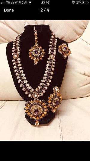 A gorgeous Brand new Indian Kundan Long Set,