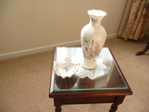 Aynsley Fine Bone China Vase & Matching Shell Shaped Dish