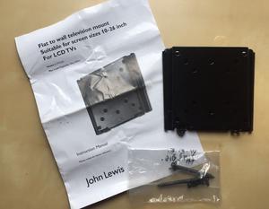 BRAND NEW Black Metal Wall Mounted Flat Screen Flush Mounted LCD TV Bracket (Fits  Inch)