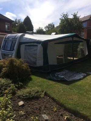 Bradcot full size awning size , green and grey
