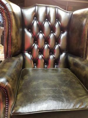 Brand new queen Anne wing chair