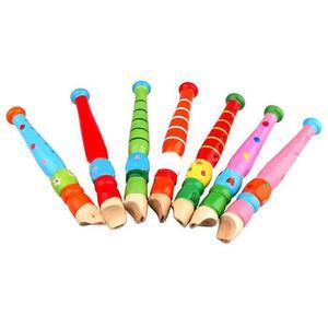 Fun Baby Kids Wooden Flute Whistle Early Art Developmental