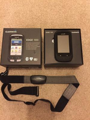 Garmin Edge  [Boxed] with HRM chest strap, silicone case and out front bike mount
