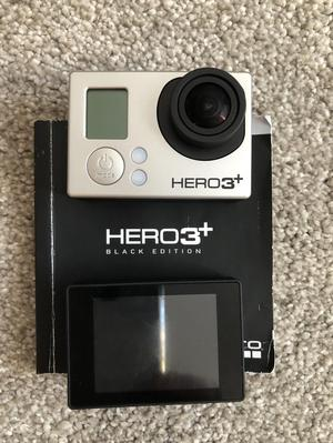 Go Pro Hero 3+ with accessories