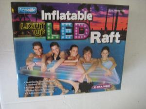 INFLATABLE LED LIGHT UP RAFT-RAINBOW OF COLORS XTRA WIDE
