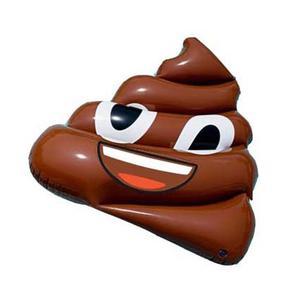 """Inflatable Emoji """"Pile of Poo"""", Pool Float"""