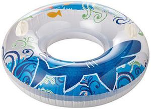Intex Lively Print Transparent Inflatable Swim Ring / Pool