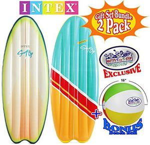 "Intex Surf's Up Inflatable Surfboard Pool Mats 70"" X 27"""