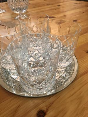 Job lot of crystal glass