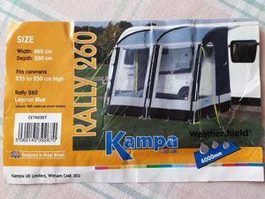 Kampa 260 Awning Instructions