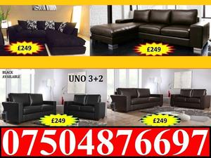LEATHER 3+2 SOFA £250 DELIVERY ONLY FABRIC CORNER SOFA