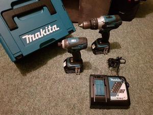Makita Combi Drill and Impact Drill Twin Kit 2X 4AH