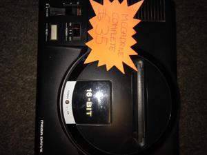 Mega drive 1 or 2 complete with all leads and 1 game £35 each