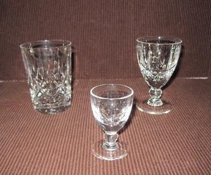 """Royal Brierley """"Winchester"""" Lead Crystal Glasses."""