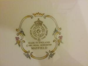 Royal Worcester Mayfield cake plate