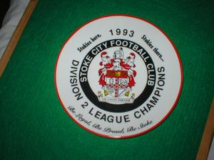 STOKE CITY PLATE  PROMOTION YEAR