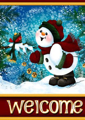 Toland - Jingle Jangle Snowman Houseflag  SD