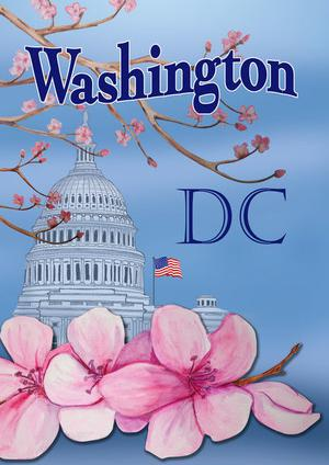 Toland - Washington Cherry Blossoms Houseflag  SD