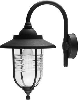 Traditional Black IP44 Outdoor Fishermans Wall Lamp Lantern