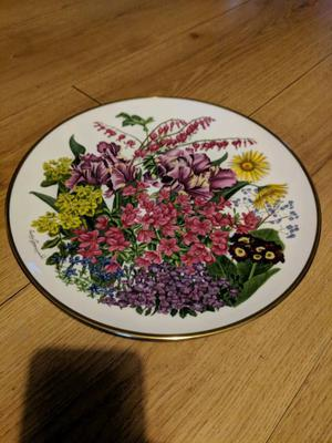 Vintage Franklin Porcelain Flowers of the Year: The Flowers of May