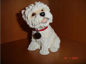WESTIE DOG ORNAMENT.THE LEONARDO COLLECTION. (). Height