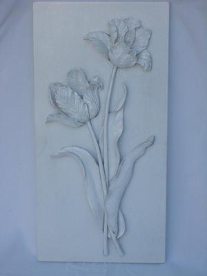 Wall Art – Ornamental Tulip Wall Plaque – NEW!