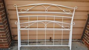 White double bed frame and MATTRESSES