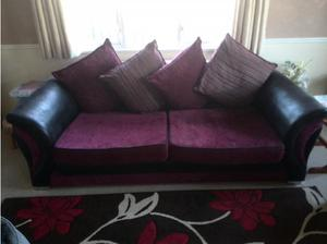 2 three seater sofas +2 rugs for sale in Tewkesbury