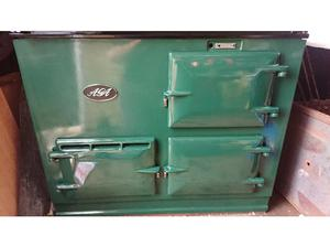 Aga 13 amp 2 oven cooker in british racing green (5 yrs old)