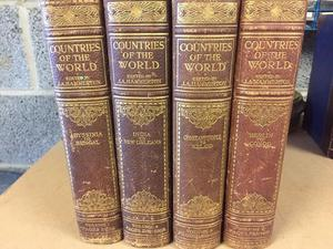 Antique Set of 4 Books - Countries of the World