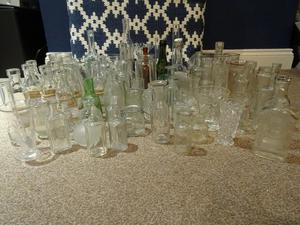 Assorted Vintage Rustic Glass Vases (approx 100 pieces) idea