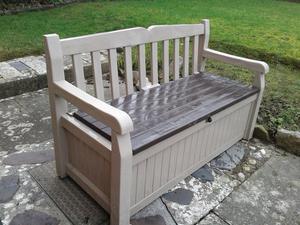 Garden bench outdoor storage box