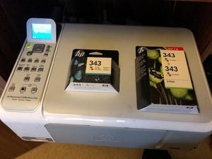 HP Photosmart c all in one printer with genuine hp ink cartridges