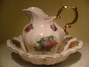 Jug and bowl floral set from Stoke on Trent
