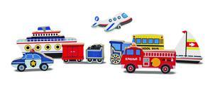 Melissa & Doug Vehicles Wooden Chunky Puzzle - Plane, Train,