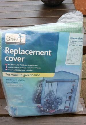 REPLACEMENT WALK-IN GREENHOUSE COVER