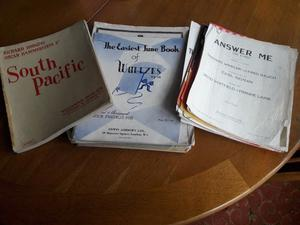 selection of sheet music/songs from 's/60's