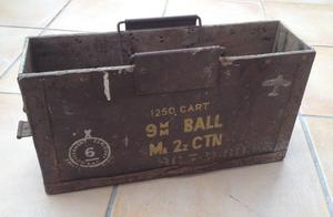 British Army WWII style wooden ammo box