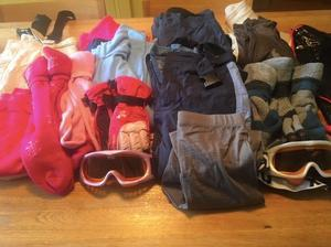 Nearly new children's SKI clothes - £25 for each batch