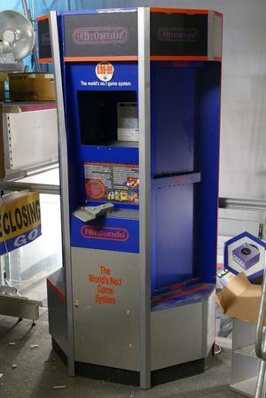 Original NES Nintendo Retail Gaming Display Stand with Original Mario Marketing