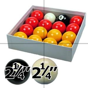 Red and Yellow 2 1/4 Pool Ball Set